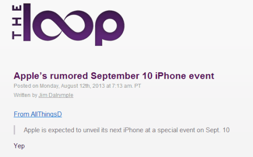 Apple's rumored September 10 iPhone event