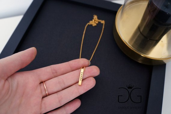 Minimal bar necklace Karma GG UNIQUE