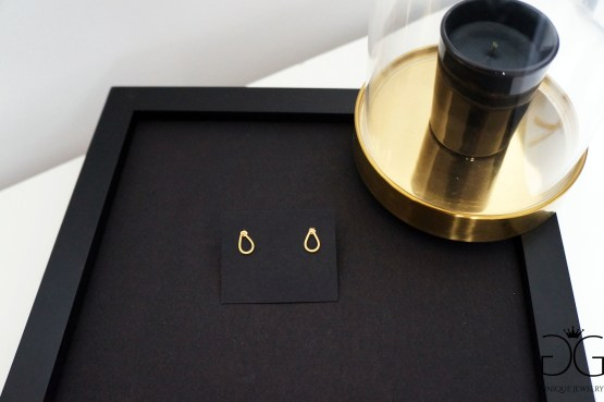 Minimal drop earrings gold plated GG UNIQUE