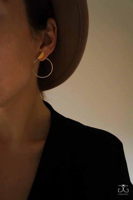 Half-moon double sided earrings GG UNIQUE