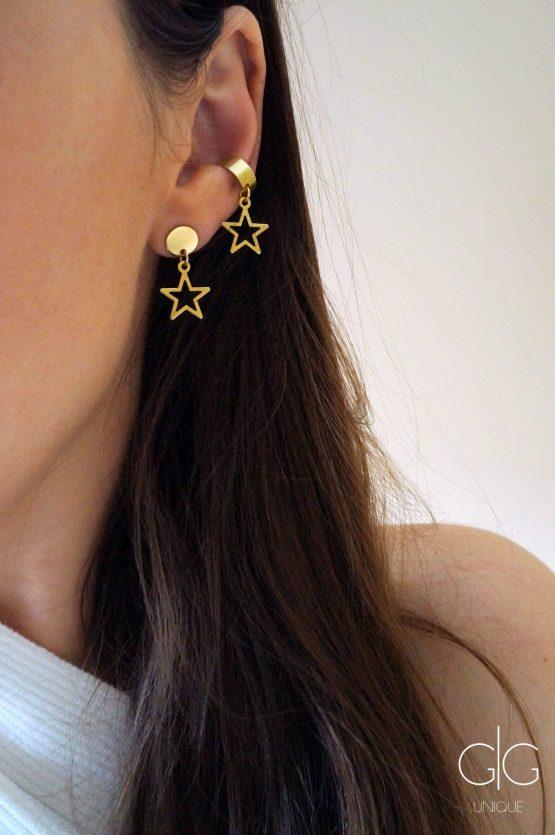 Gold color star and ear cuff set - GG UNIQUE