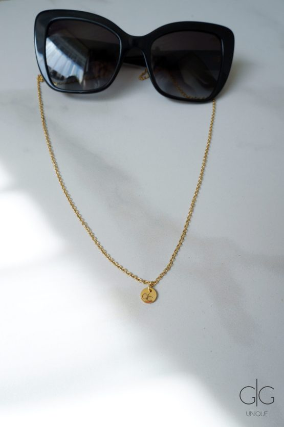 Thin glasses chain gold plated stainless steel - GG UNIQUE