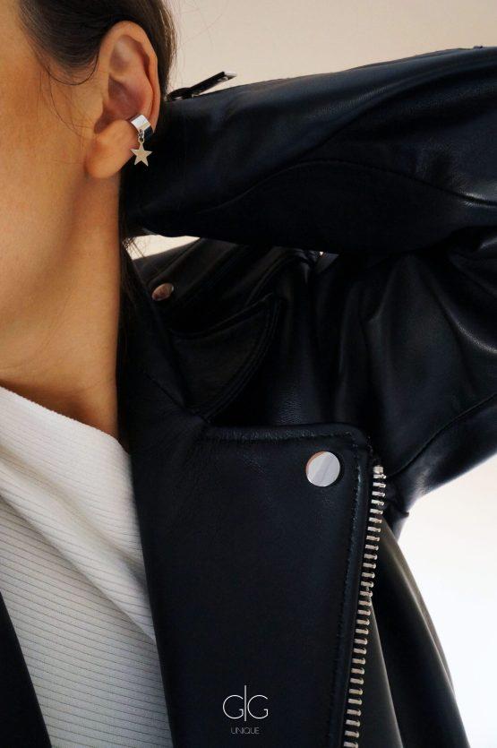 Silver color ear cuff with a star - GG UNIQUE