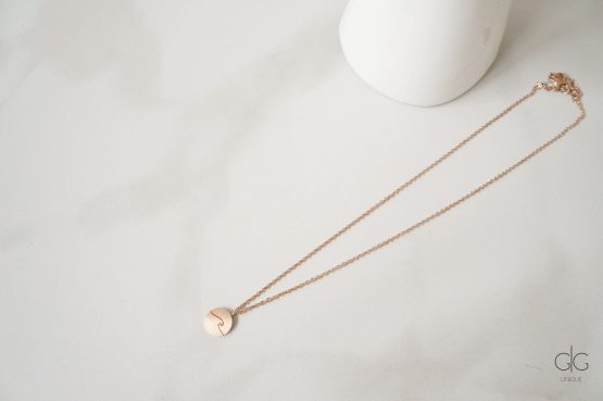 Minimal wave necklace in rose gold - GG UNIQUE