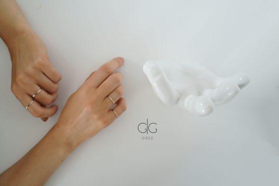 Modern minimal silver ring - GG UNIQUE