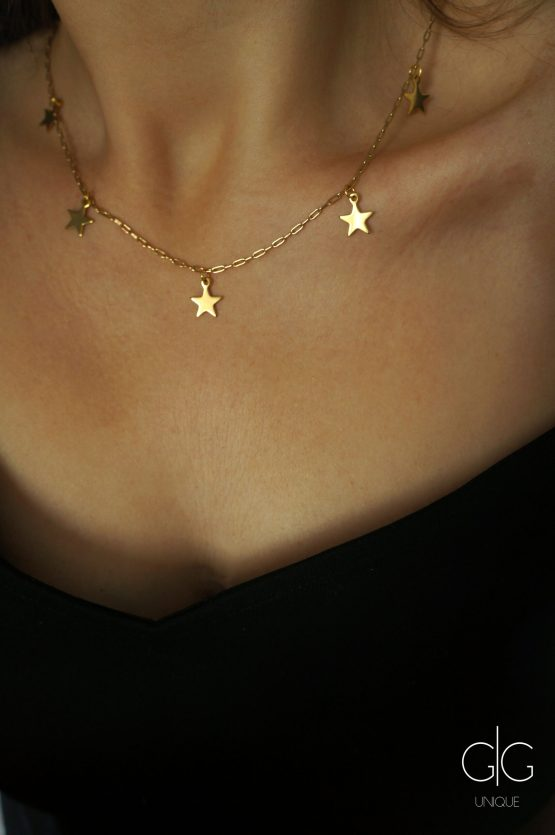 Minimal star necklace in gold GG UNIQUE