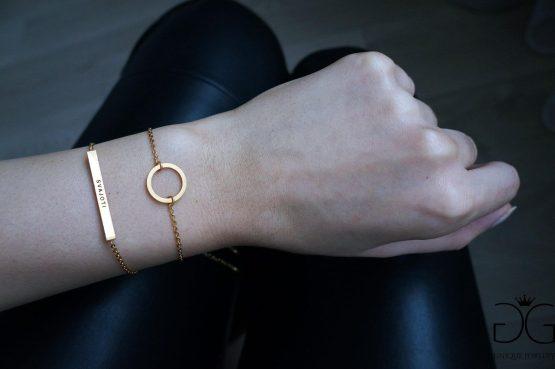 Gold circle karma bracelet GG UNIQUE