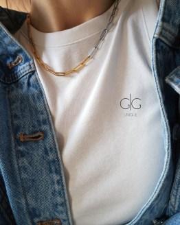 Multicolor minimal necklace in gold and silver - GG UNIQUE