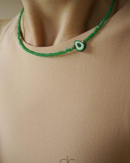 Funny avocado toast lover green necklace - GG UNIQUE