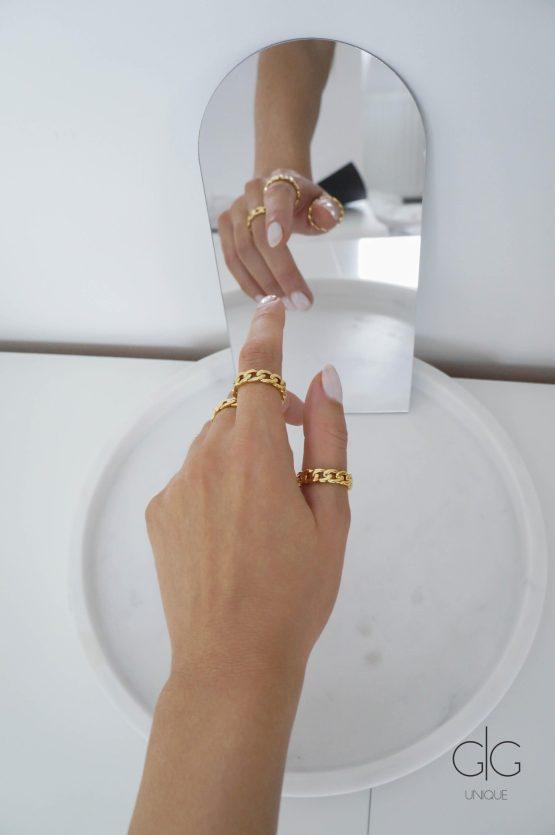 Trendy chain ring - GG Unique