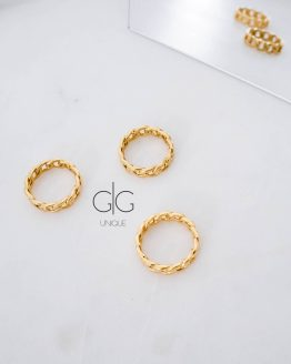Trendy chain ring in gold - GG Unique