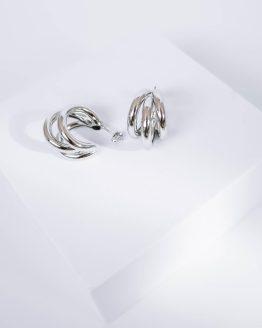 Triple hoop earrings in silver - GG Unique