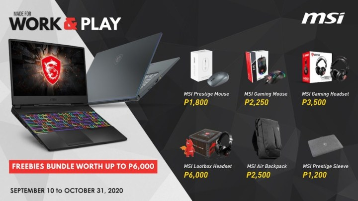 MSI's Gaming Work And Play Promo