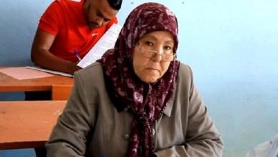 صورة سيدة سبعينية تجتاز امتحانات البكالوريا في أصيلة