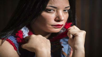 صورة لبنى أبيضار تدخل على خط الحكم الصادر في حق المحجبة بطلة الفيديو الإباحي