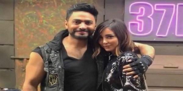 مفاجأة جديدة تجمع تامر حسني بزوجته المغربية بسمة بوسيل