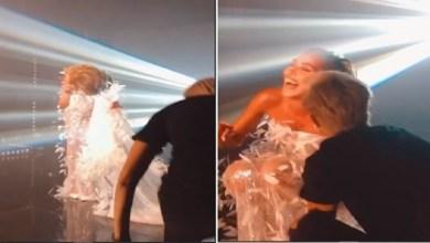 صورة مايا دياب تتعرض لموقف محرج خلال تصوير كليبها الجديد – فيديو