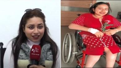 """صورة أميمة حمدي.. شابة تتحدى الإعاقة وتواجه نظرات """"الشفقة""""-فيديو-"""