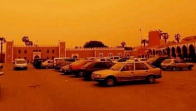 صورة هذه حقيقة تحول لون سماء سوس إلى البرتقالي