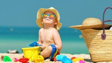 """صورة """"نصائح ذهبية"""" لحماية الأطفال من أشعة الشمس"""