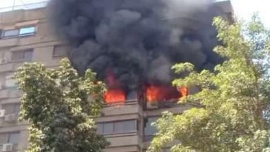 صورة فنانة عربية شهيرة تنجو من حادث حريق- فيديو