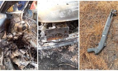 1611958441 Driver allegedly killed and burned with his car at Aburi