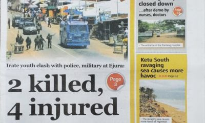 Today's Newspaper Front Pages: Monday, September 27, 2021
