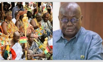 """""""We Call You Names Because Of Our Poor Roads"""" - Chief Boldly Tells Akufo Addo In His Face"""