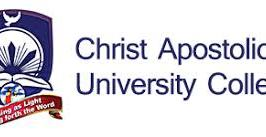 Christ Apostolic University College Admission Form
