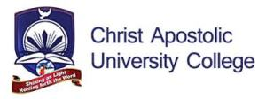 Christ Apostolic University College Admission Form