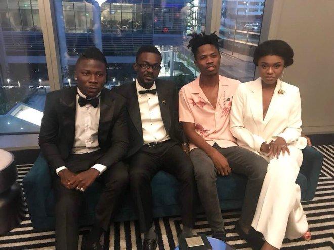 Stonebwoy, Nana Appiah Mensah, Kwesi Arthur and Becca