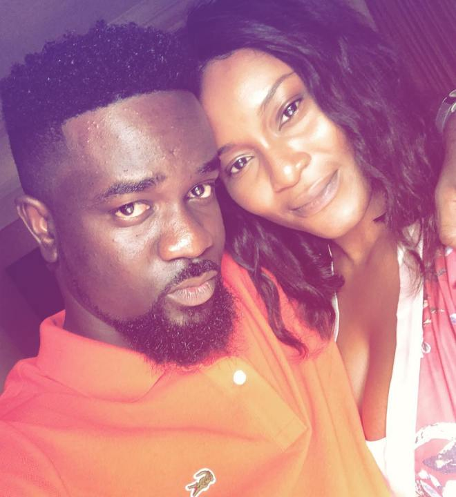 Sarkodie with Tracy SarkCess