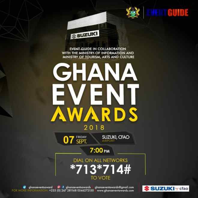 Ghana Event Awards 2018 full list of nominees