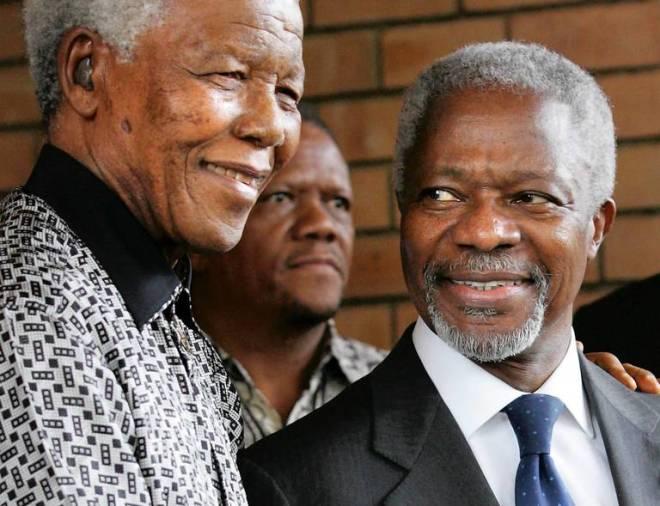 Kofi Annan with Nelson Mandela