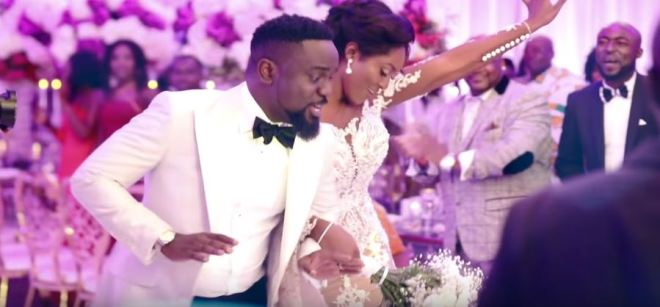 Sarkodie and Tracy nuptial