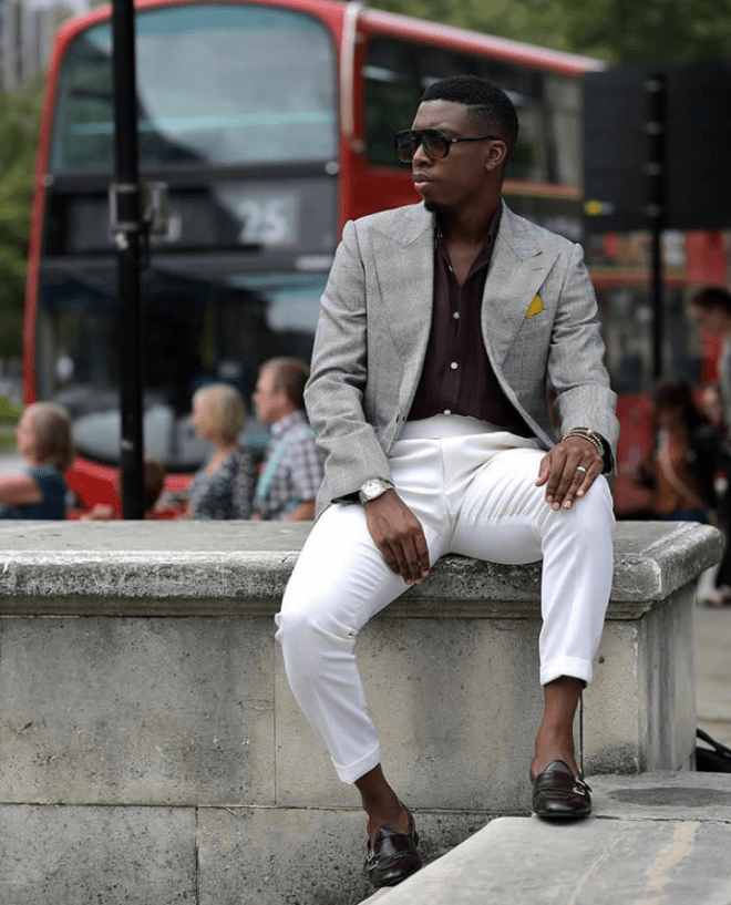 Gabriel Okonshiko with the perfect suit look