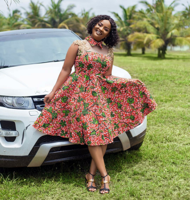 Nana Ama Mcbrown serving stylish African print style