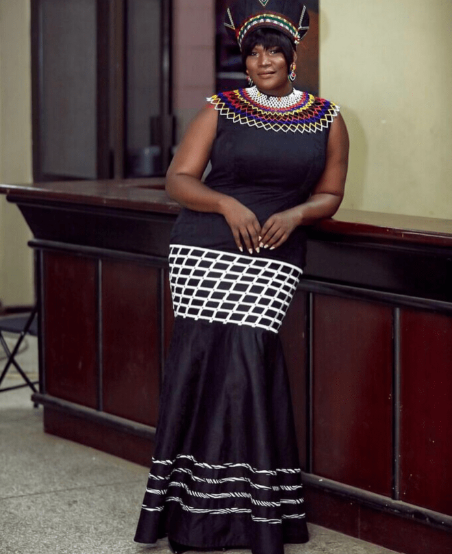 TV personality Anita Erskine looked African much for the 5th Afrimawards
