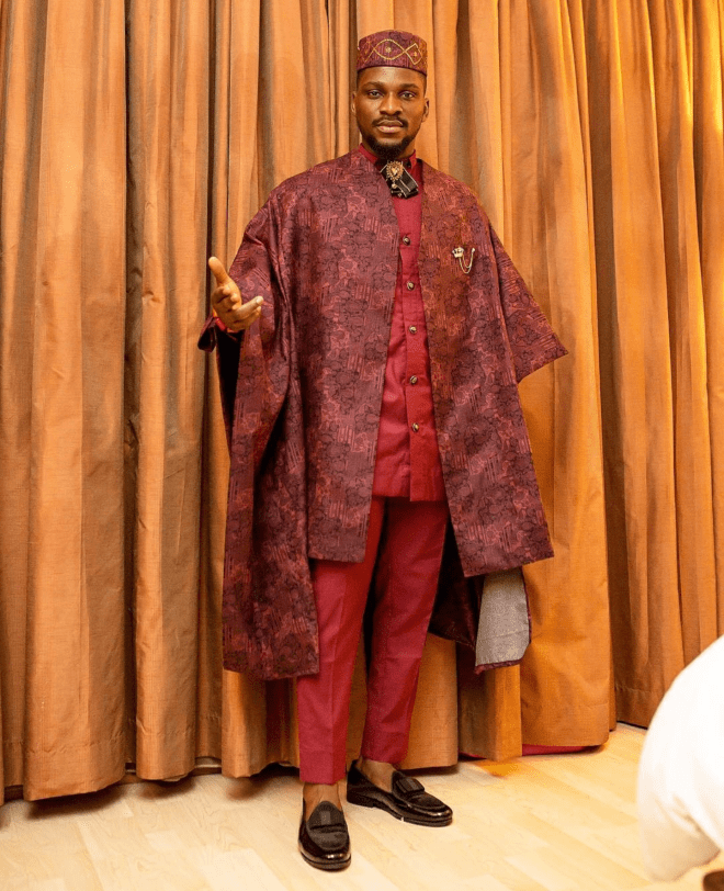 Tobi served a look in this agbada outfit