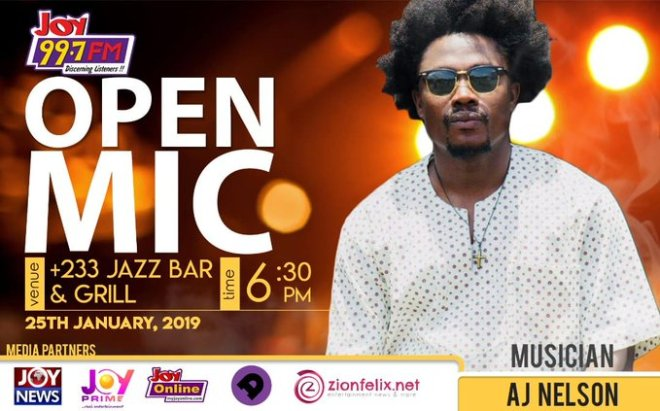 AJ Nelson on Joy FM Open Mic