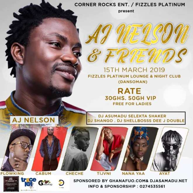Flowking Stone, Nana Yaa, Cabum, others set for 'AJ Nelson & Friends' concert March 15