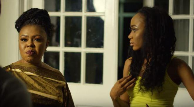 "Afia Schwarzenegger, Akuapem Polo clash in KK Fosu's ""Odo Nti"" video"