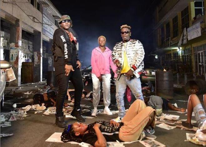 "Medikal, Shatta Wale and Fella Makafui in ""Omo Ada"" remix"