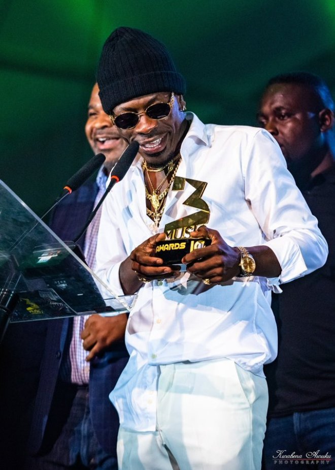Shatta Wale with his 3Music Awards