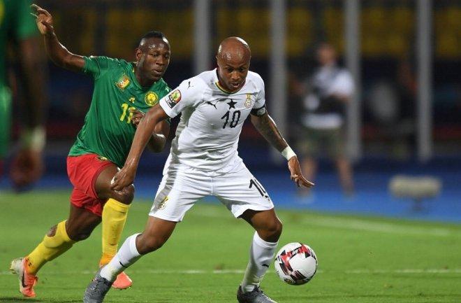 Dede Ayew against Cameroon