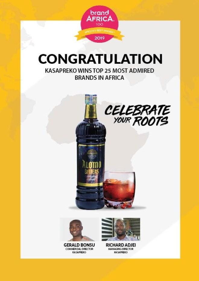 Kasapreko wins 'Most Admired Brand' in Africa