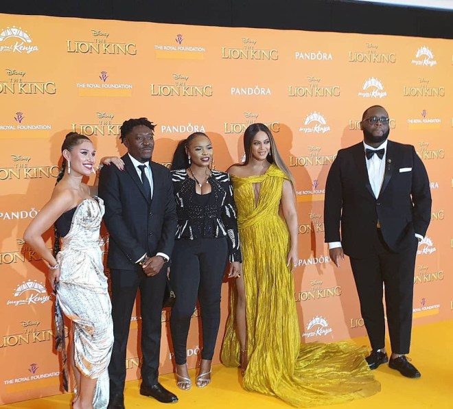 Ghana's Guilty Beatz attends Lion King movie premiere in London