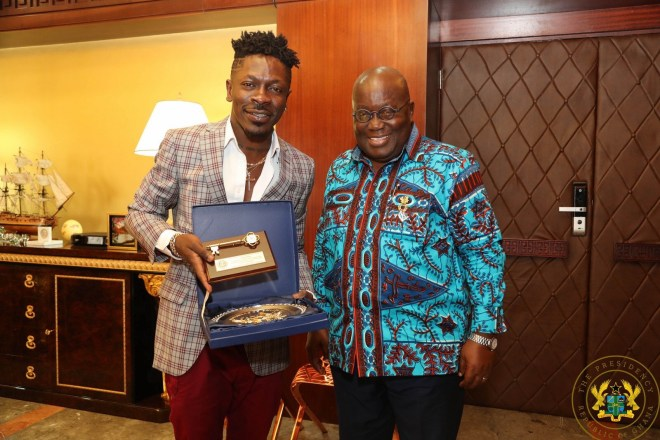 Shatta Wale and President Akufo-Addo