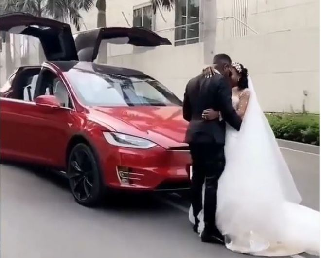 From Tesla to Rolls-Royce, Despite's son brings out new set of cars for white wedding