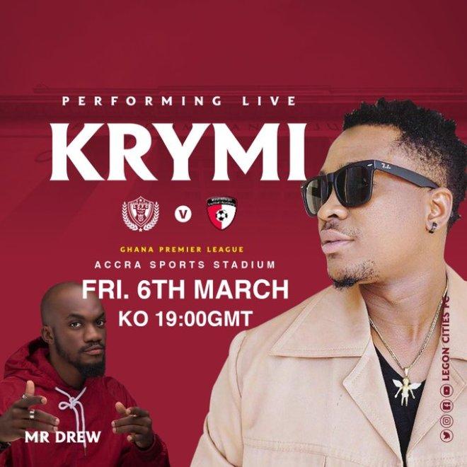 Legon Cities recruit singer Krymi for WAFA clash